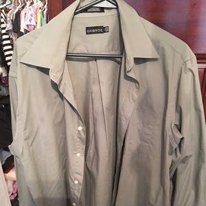Men's Dress Shirt, Gray